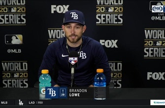 Brandon Lowe talks after his 3-run HR, Rays' Game 4 win over Dodgers