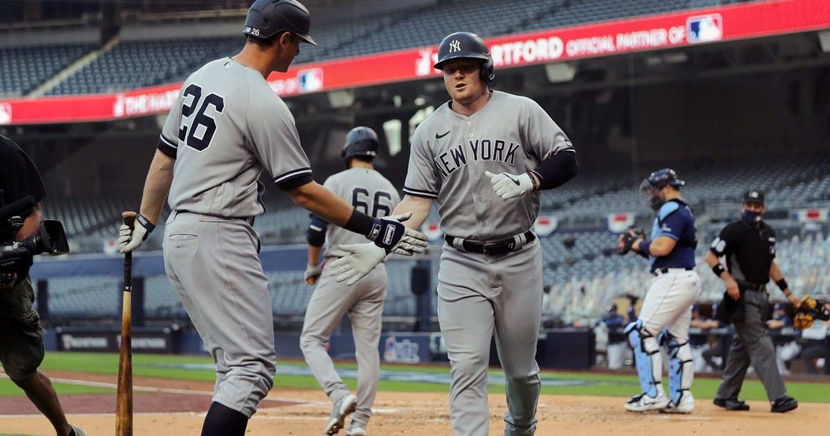 Get out the tape measure: Clint Frazier blasts moonshot in Game 1 of ALDS