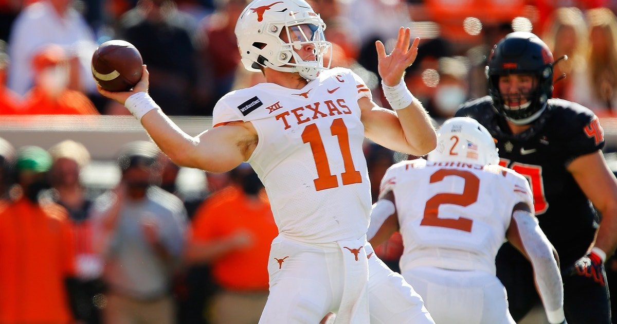Sam Ehlinger, Texas reclaim lead with TD pass on 4th & 7, Longhorns pull ahead of Cowboys, 33-31