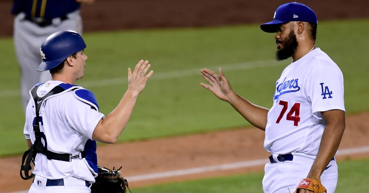 Kenley Jansen strikes out Christian Yelich to close out Dodgers Game 1 win