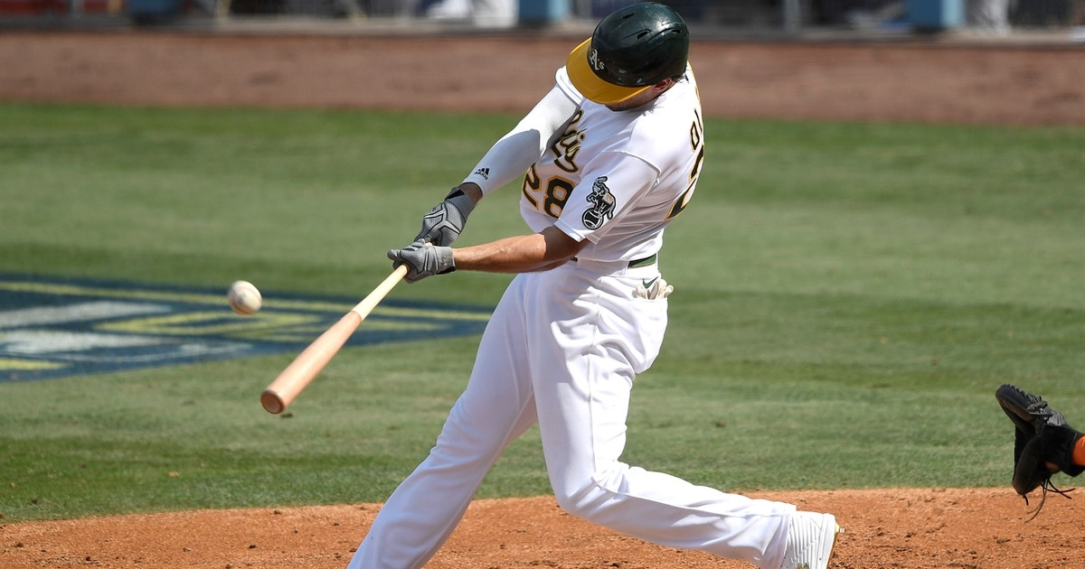 Matt Olson clubs go-ahead solo shot that puts Athletics up 4-3 on Astros in the 4th inning