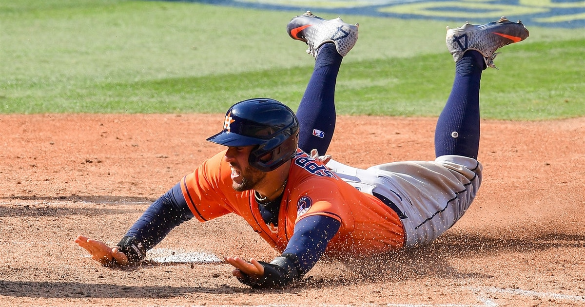 Astros break ALDS Game 1 open with four-run 5th inning, lead Athletics 7-5 1
