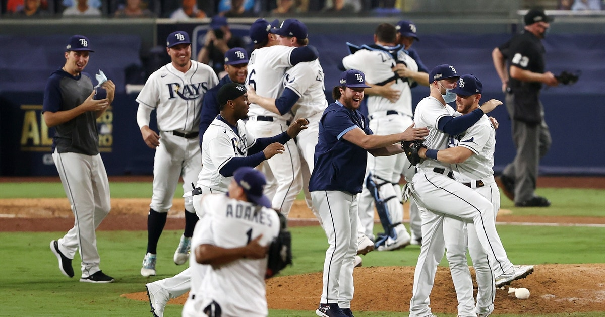 Watch Rays celebrate punching their ticket to the World Series for first time since 2008