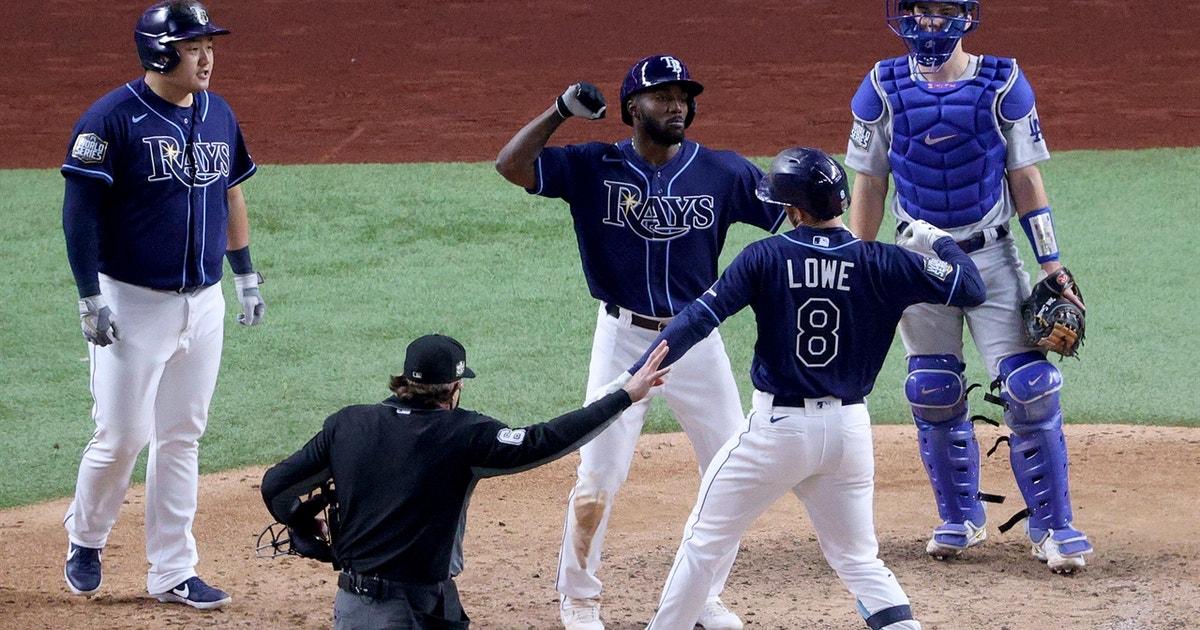 Brandon Lowe clubs three-run homer, puts Rays on top, 5-4, in World Series Game 4