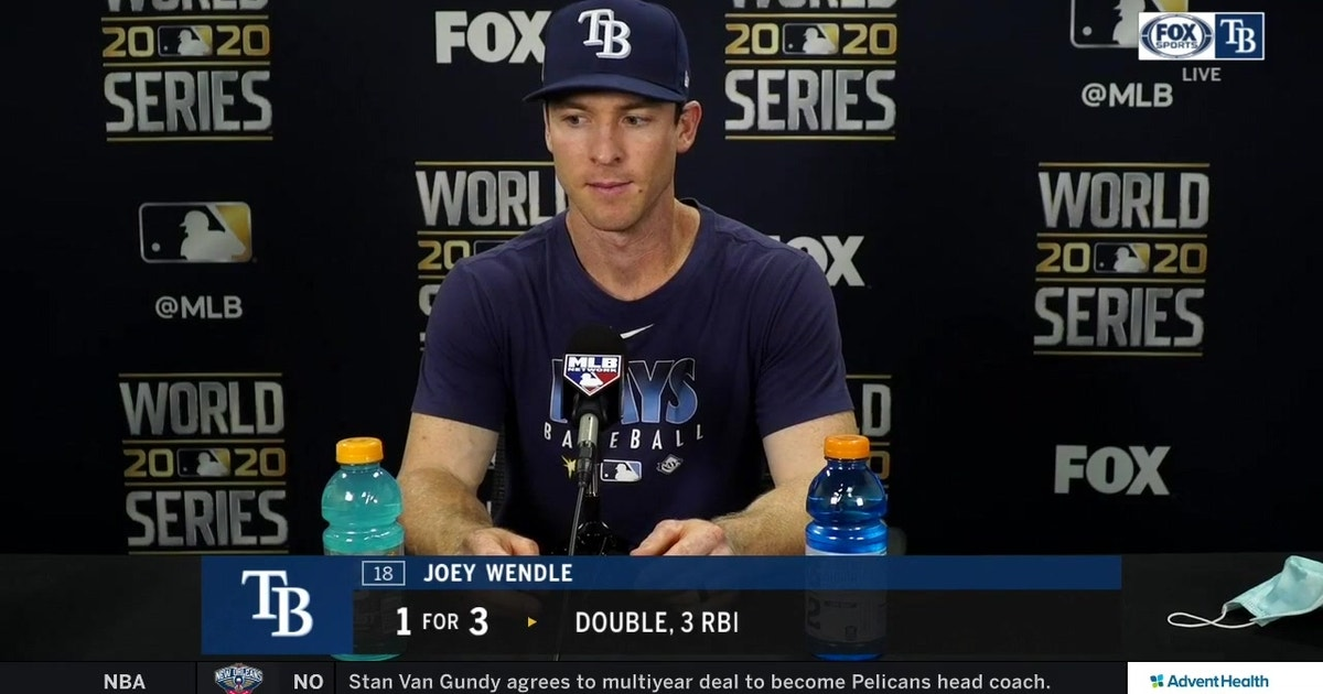 Joey Wendle talks about his 3-RBI outing after Rays' 6-4 win in Game 2 of World Series