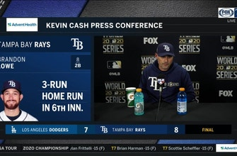 Kevin Cash recaps Rays' electric Game 4 win over Dodgers