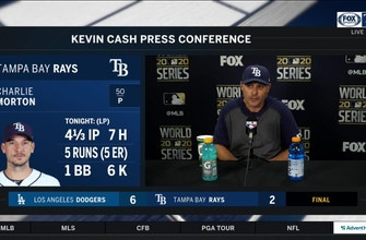 Rays manager Kevin Cash recaps World Series Game 3 loss to Dodgers