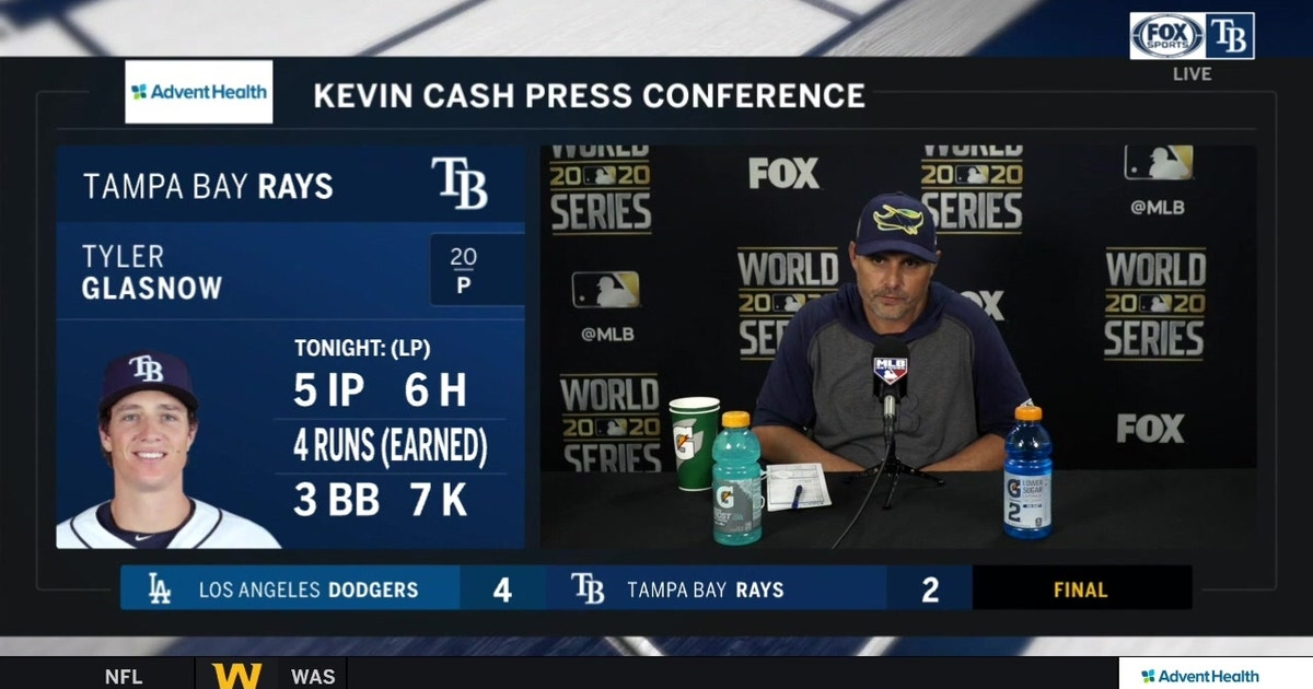 Kevin Cash breaks down Rays' Game 5 World Series loss to Dodgers