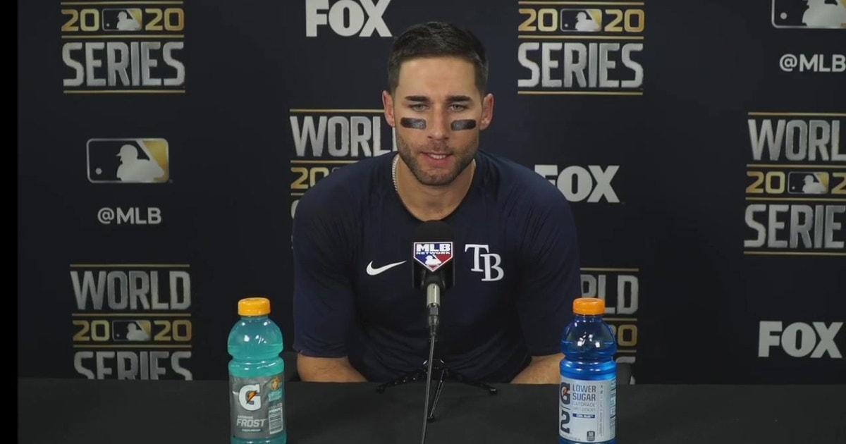 Kevin Kiermaier discusses his hot night at the plate, Rays' Game 1 loss to Los Angeles