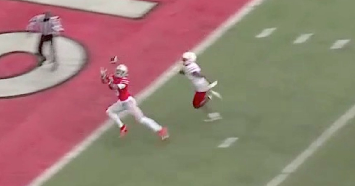 Ohio State's Justin Fields finds Garrett Wilson for the go-ahead touchdown, 14-7