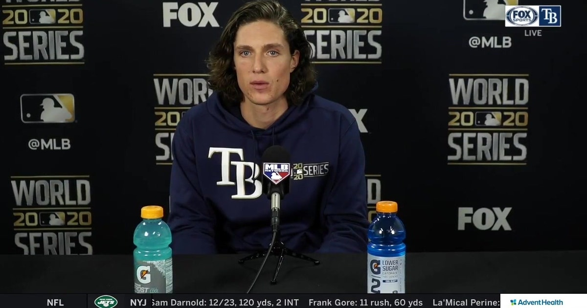 Tyler Glasnow recaps his start in Rays' loss to Dodgers in Game 5 of World Series