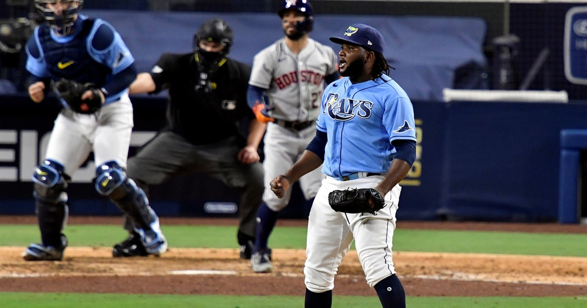 Diego Castillo strikes out Jose Altuve as Rays win ALCS Game 1 vs. Astros, 2-1