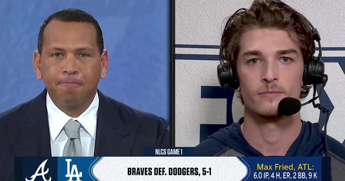 Max Fried discusses Braves' NLCS Game 1 win over Dodgers with MLB on FOX crew