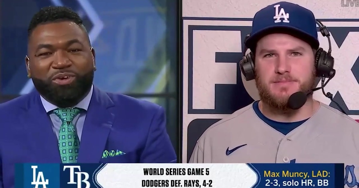 Max Muncy breaks down his clutch homer, Game 5 win & Margot's attempted steal of home
