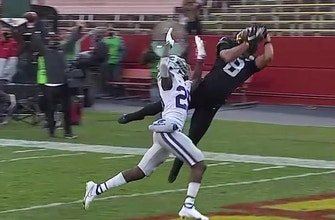 Brock Purdy finds Xavier Hutchinson for the touchdown, Iowa State takes 21-0 lead on K-State