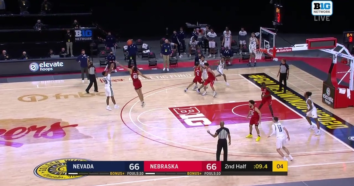 Nevada downs Nebraska, 69-66, with dramatic last-second three pointer (VIDEO)