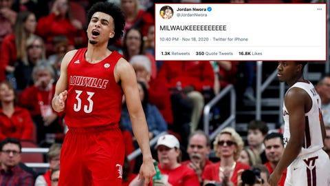 Jordan Nwora, Bucks draft pick