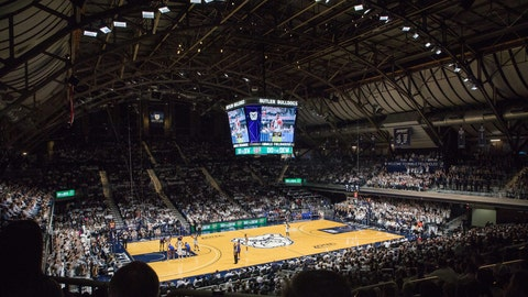 Butler has not announced what seating capacity will be allowed for games at Hinkle Fieldhouse this season.  Butler Bulldogs DePaul Blue Demons Butler Blue IV collar ceremony