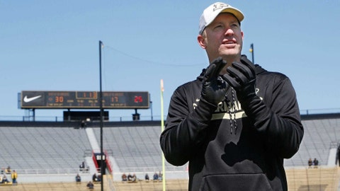 9. Jeff Brohm, Purdue  Laf Pfoot Spring Game