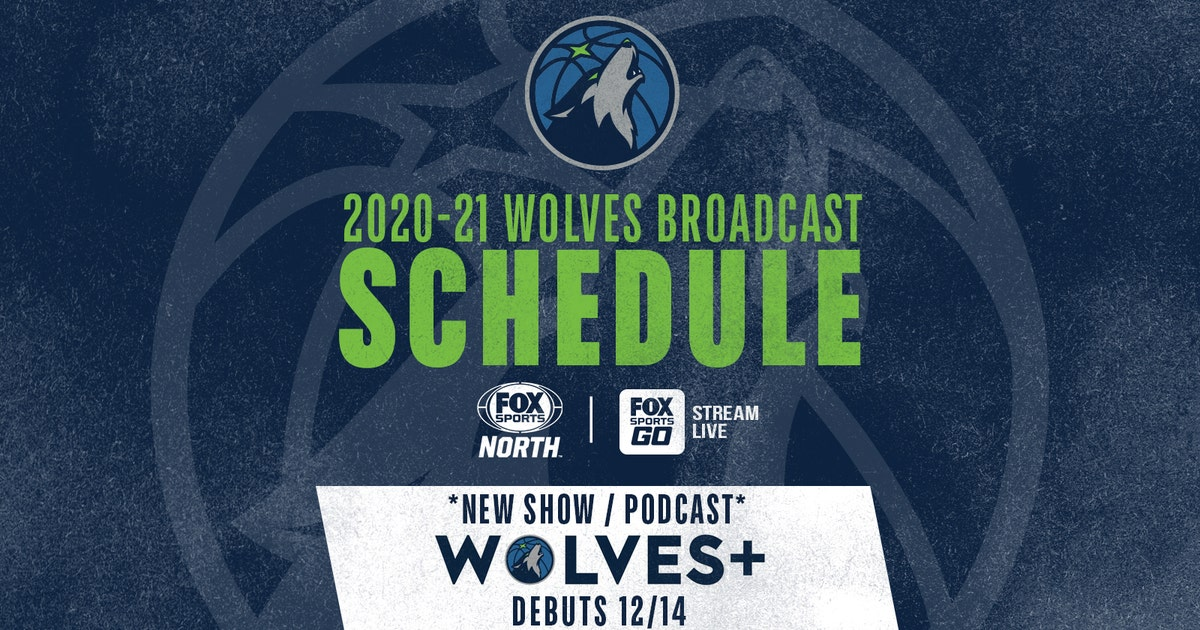 FOX Sports North announces 2020-21 Timberwolves first half broadcast schedule