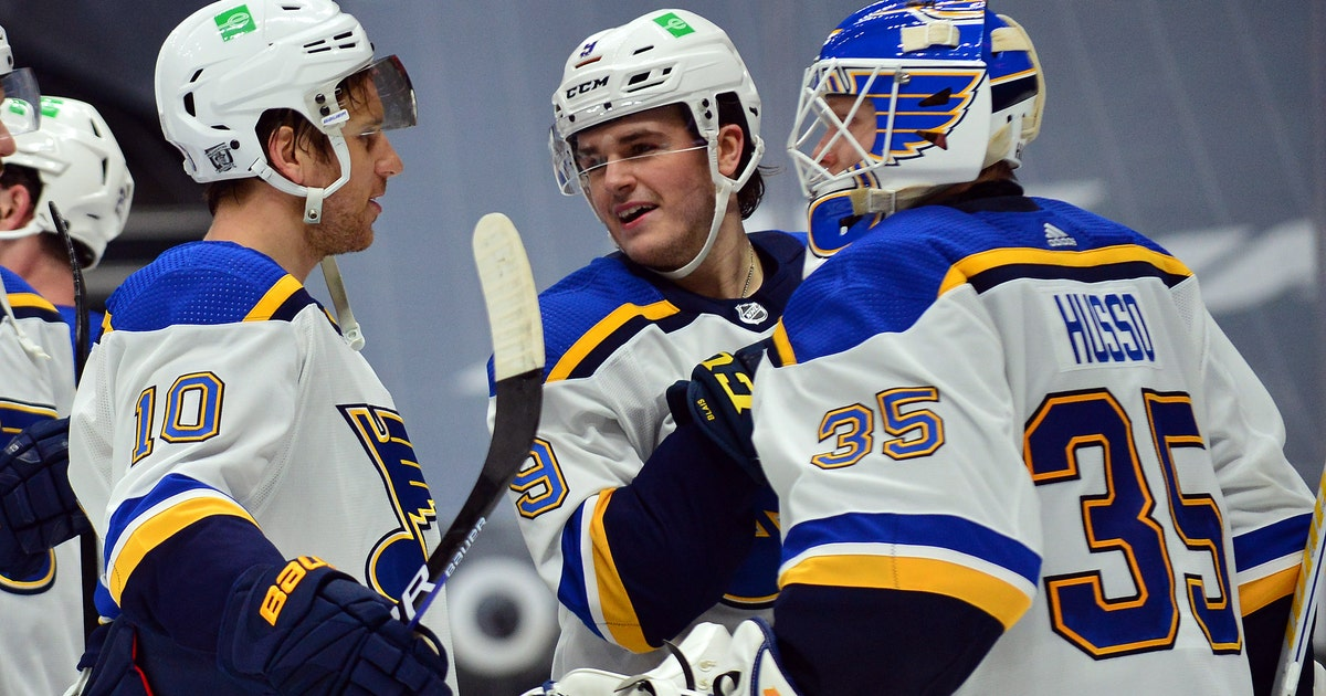 Schenn scores twice, Husso gets first NHL win as Blues beat Ducks 4-1