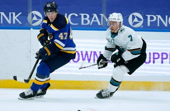 Sharks back at practice, Blues game Saturday is on