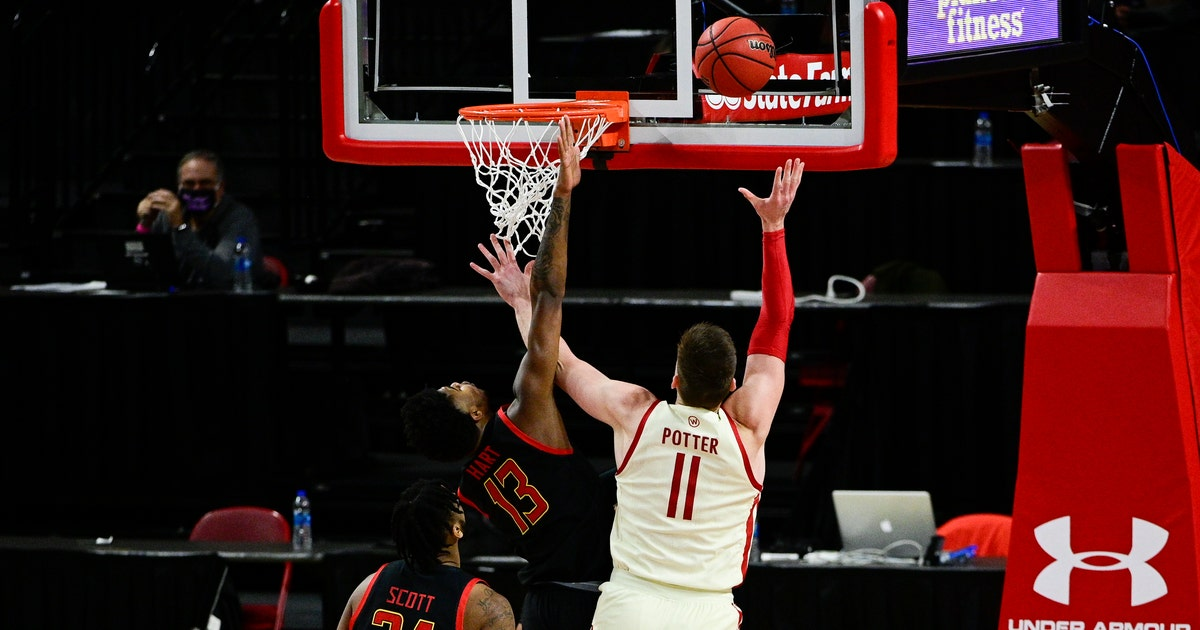 No. 14 Badgers hold off Maryland 61-55