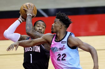 Jimmy Butler posts triple-double as Heat top Rockets for 4th straight win