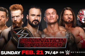 <p>WWE Champion Drew McIntyre vs. Jeff Hardy vs. Randy Orton vs. AJ Styles vs. The Miz vs. Sheamus (Elimination Chamber Match) thumbnail