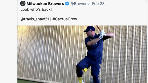 Travis Shaw, Brewers infielder