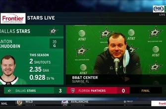 Anton Khudobin on Stars 3-0 win over the Panthers | Stars Live