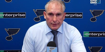 Berube on Binnington's fiery exit: 'He was trying to rally the team'