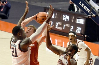No. 19 Badgers can't hit shots in 75-60 loss to Illinois