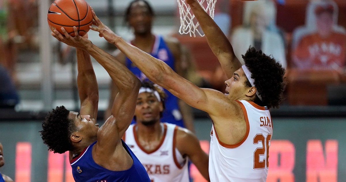Kansas' five-game winning streak snapped with 75-72 overtime loss to Texas
