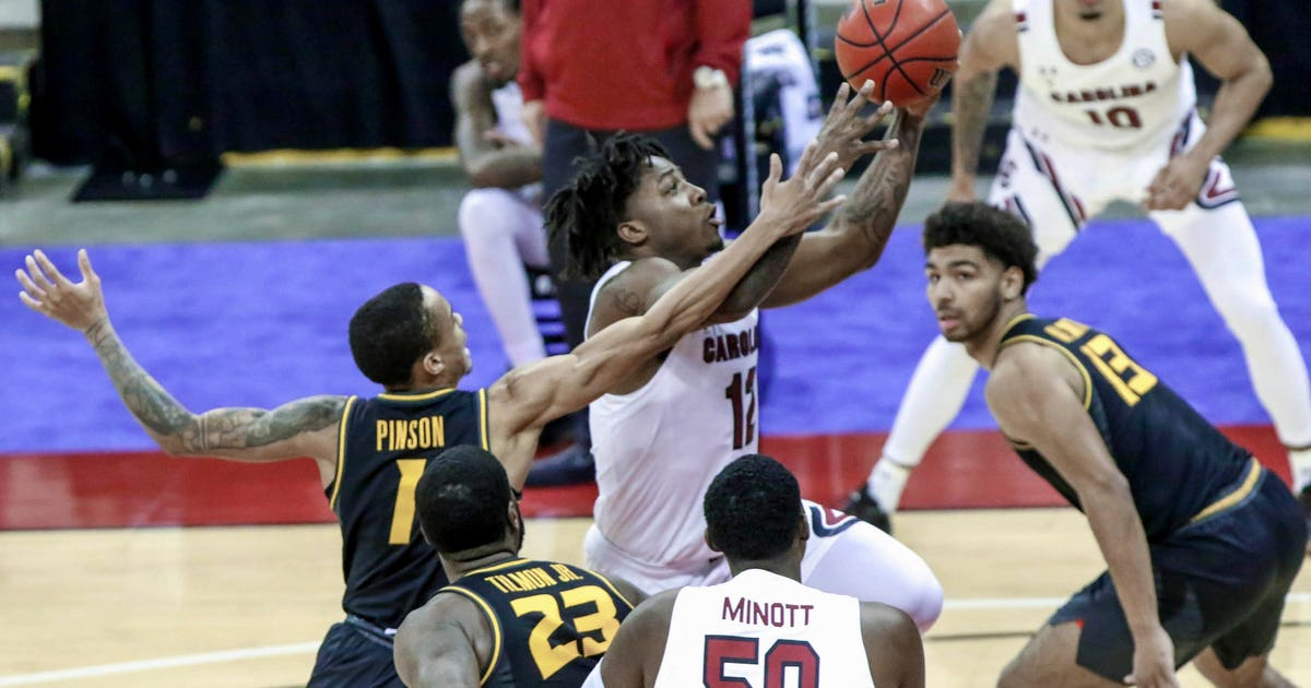 No. 20 Missouri snaps three-game skid with 93-78 win over South Carolina