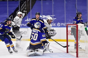 Blues' rough stretch continues with 2-1 loss to Kings