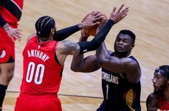 Lillard has 43, go-ahead score as Blazers edge Pelicans