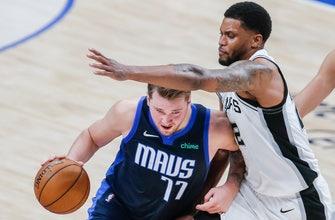 Mavericks pull away late to beat Spurs 115-104