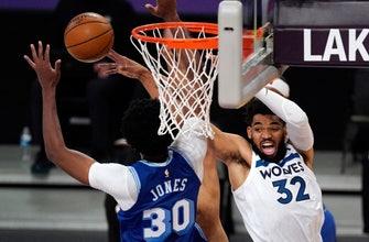 Timberwolves hang tough early, lose to Lakers 137-121 thumbnail