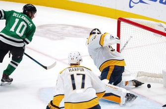 Preds finish long trip with another 4-3 SO win over Stars thumbnail
