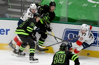 Ekblad's goal in OT gives Panthers 4-3 win over Stars thumbnail