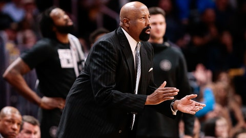 Feb 27, 2018; Denver, CO, USA; Los Angeles Clippers assistant coach Mike Woodson in the fourth quarter against the Denver Nuggets at the Pepsi Center. Mandatory Credit: Isaiah J. Downing-USA TODAY Sports