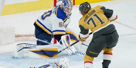 Blues' two-game winning streak snapped with 5-1 loss to Golden Knights