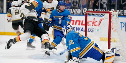 Blues fall to Golden Knights for first time in regulation with 5-1 loss