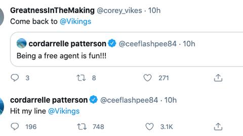Cordarrelle Patterson, former Vikings wide receiver