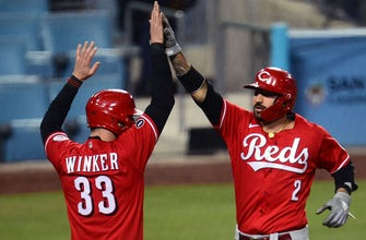 Jesse Winker goes 3-for-5 with two RBI and a homer as Reds edge Dodgers, 6-5 thumbnail