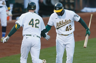 Athletics dominate Tigers for the fifth-consecutive win, 8-4 thumbnail
