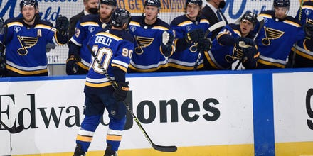 O'Reilly records hat trick in Blues dominant 9-1 victory over Wild