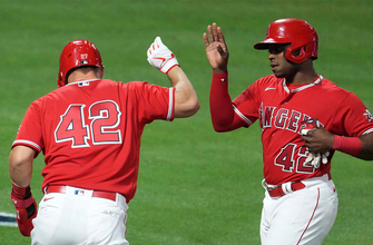 Mike Trout and Justin Upton lead the hit parade in Angels' 10-3 victory over Twins thumbnail