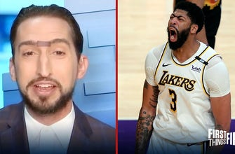 Nick Wright on AD's dominant performance after Lakers defeat Suns: 'The Brow is back!' | FIRST THINGS FIRST